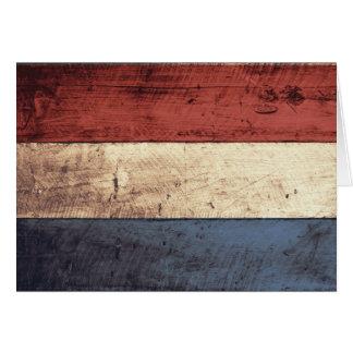 Cartes Vieux drapeau néerlandais en bois