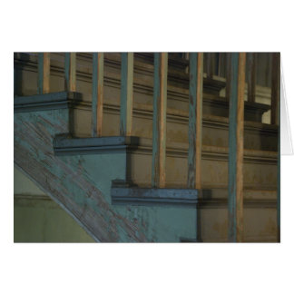 Cartes Vieux escaliers en bois verts
