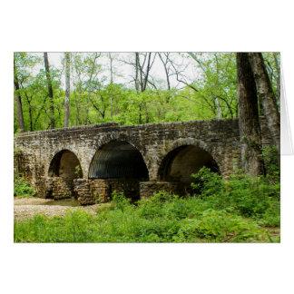 Cartes Vieux pont à la rivière de Cuivre