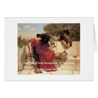 Cartes Vieux vieux couples de Grec d'histoire