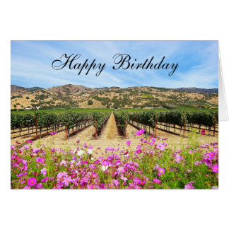 Cartes Vignoble de Napa Valley de joyeux anniversaire