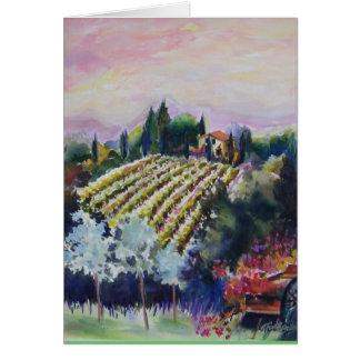 Cartes Vignoble toscan d'AQUARELLE de Le Docce Villa