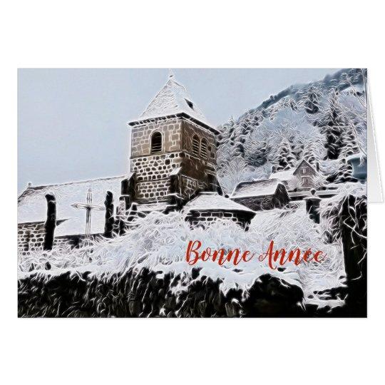Cartes village du Cantal sous la neige