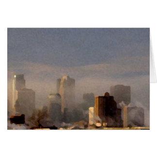 Cartes Ville dans la brume