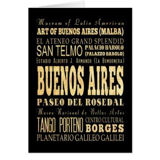 Cartes Ville de Buenos Aires d'art de typographie de