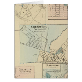 Cartes Ville de Cape May, Salem, Vineland, Millville