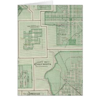 Cartes Ville de Columbus, Bartholomew Co avec Greensburg