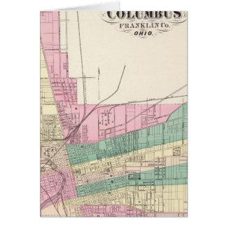 Cartes Ville de Columbus, le comté de Franklin, Ohio
