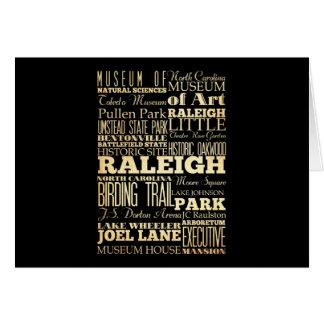 Cartes Ville de Raleigh de la typographie d'état de la