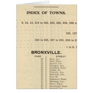 Cartes Villes d'index, Bronxville