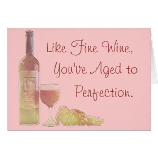 Cartes Vin âgé à l'anniversaire de perfection