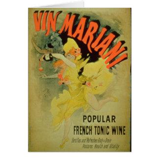 Cartes Vin de Mariani de publicité par affichage ',