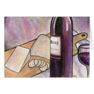 Cartes Vin et fromage ce soir
