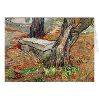 Cartes Vincent van Gogh | le banc au Saint-Remy