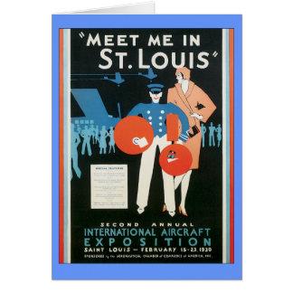 Cartes Vintage rencontrez-moi à St Louis