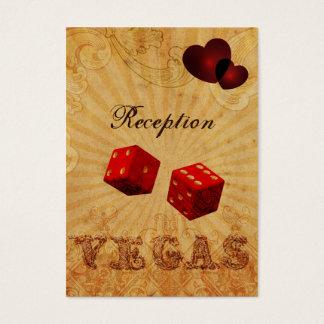 cartes vintages de réception de Vegas de matrices