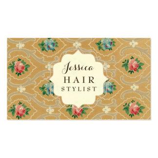 Cartes vintages de rendez-vous de coiffeur de carte de visite standard