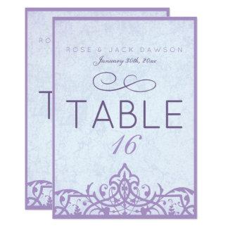 Cartes vintages de Tableau de belle lavande Carton D'invitation 12,7 Cm X 17,78 Cm