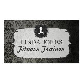 Cartes vintages d'entraîneur de forme physique de  carte de visite standard