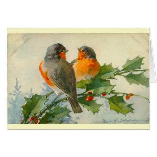 Cartes vintages d'impression de carte postale
