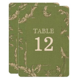 Cartes vintages élégantes de nombre de Tableau de Carton D'invitation 12,7 Cm X 17,78 Cm