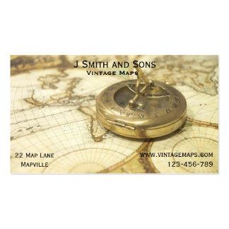 Cartes vintages et affaires ou cartographe de carte de visite standard