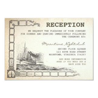 cartes vintages nautiques de réception de bateau carton d'invitation 8,89 cm x 12,70 cm