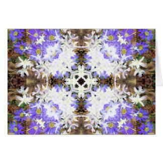 Cartes Violette et blanc