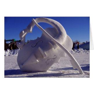 Cartes Violon - carnaval d'hiver, Québec