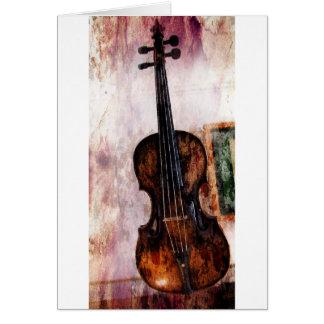 Cartes violon de violon d'instrument de musique
