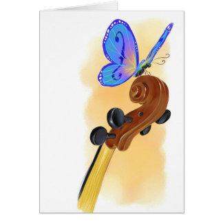 Cartes Violoncelle de papillon