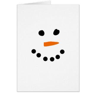 Cartes Visage de bonhomme de neige