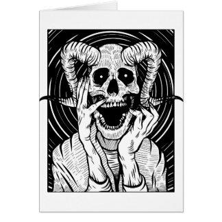 Cartes visage de diable