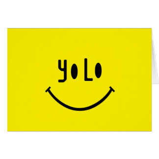 Cartes Visage de smiley de Yolo