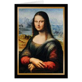 Cartes Visage grincheux de da Vinci Mona Lisa
