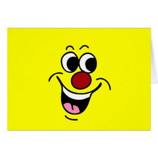 Cartes Visage souriant de sourire Grumpey