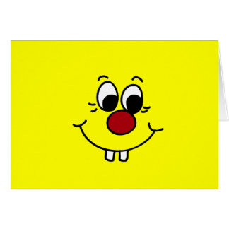Cartes Visage souriant Grumpey de génie