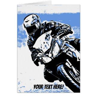 Cartes Vitesse de moto dans le bleu