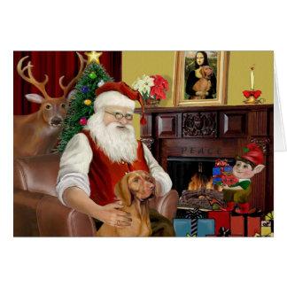 Cartes Vizsla de Père Noël