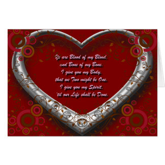 Cartes Voeu de mariage écossais traditionnel - sang de