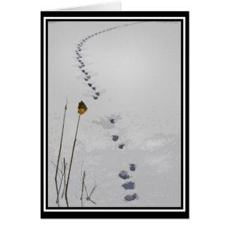 Cartes Voies dans le Joyeuses Fêtes de neige