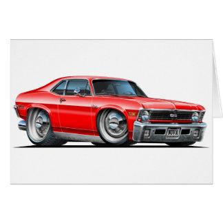 Cartes Voiture de rouge de nova de Chevy