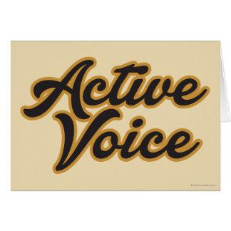 Cartes Voix active