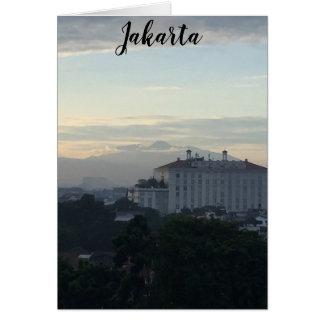 Cartes Volcan Cindercone de Jakarta Indonésie