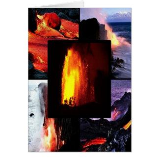Cartes Volcan hawaïen de lave