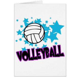 Cartes Volleyball avec des étoiles