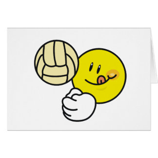 Cartes Volleyball souriant