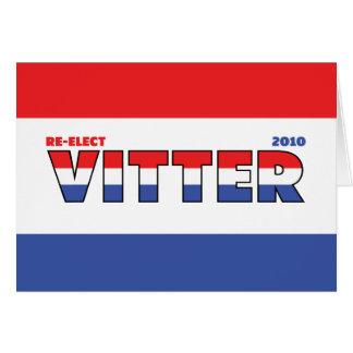 Cartes Vote Vitter 2010 élections blanc et bleu rouges