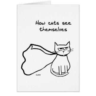Cartes Votre chat le super héros - cadeau drôle de chat