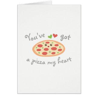 Cartes Vous avez une pizza ma Saint-Valentin drôle de